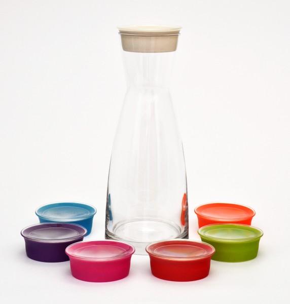 karaffe ypsilon mit deckel 1 liter inhalt glas wasserkaraffe ebay. Black Bedroom Furniture Sets. Home Design Ideas