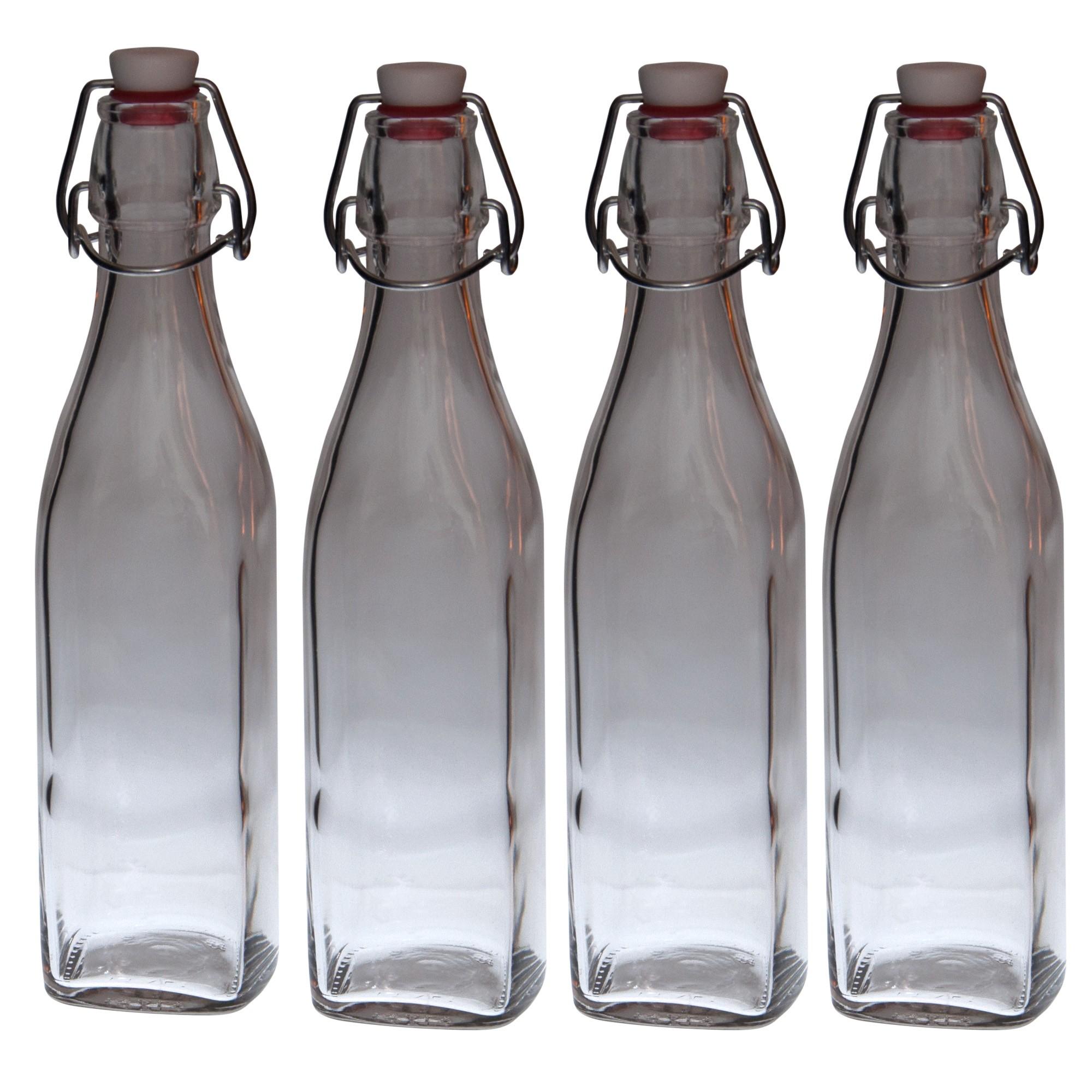 4er set glasflaschen serie swing mit b gelverschluss 0 50 liter glas flaschen. Black Bedroom Furniture Sets. Home Design Ideas