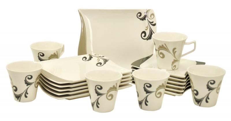 kaffeeservice romantico 36 teilig eckig kaffee geschirr porzellan 12 personen ebay. Black Bedroom Furniture Sets. Home Design Ideas