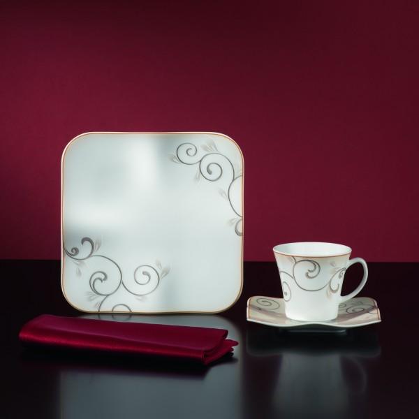 kaffeeservice chateau 18 teilig porzellan 6 personen kaffee geschirr service ebay. Black Bedroom Furniture Sets. Home Design Ideas