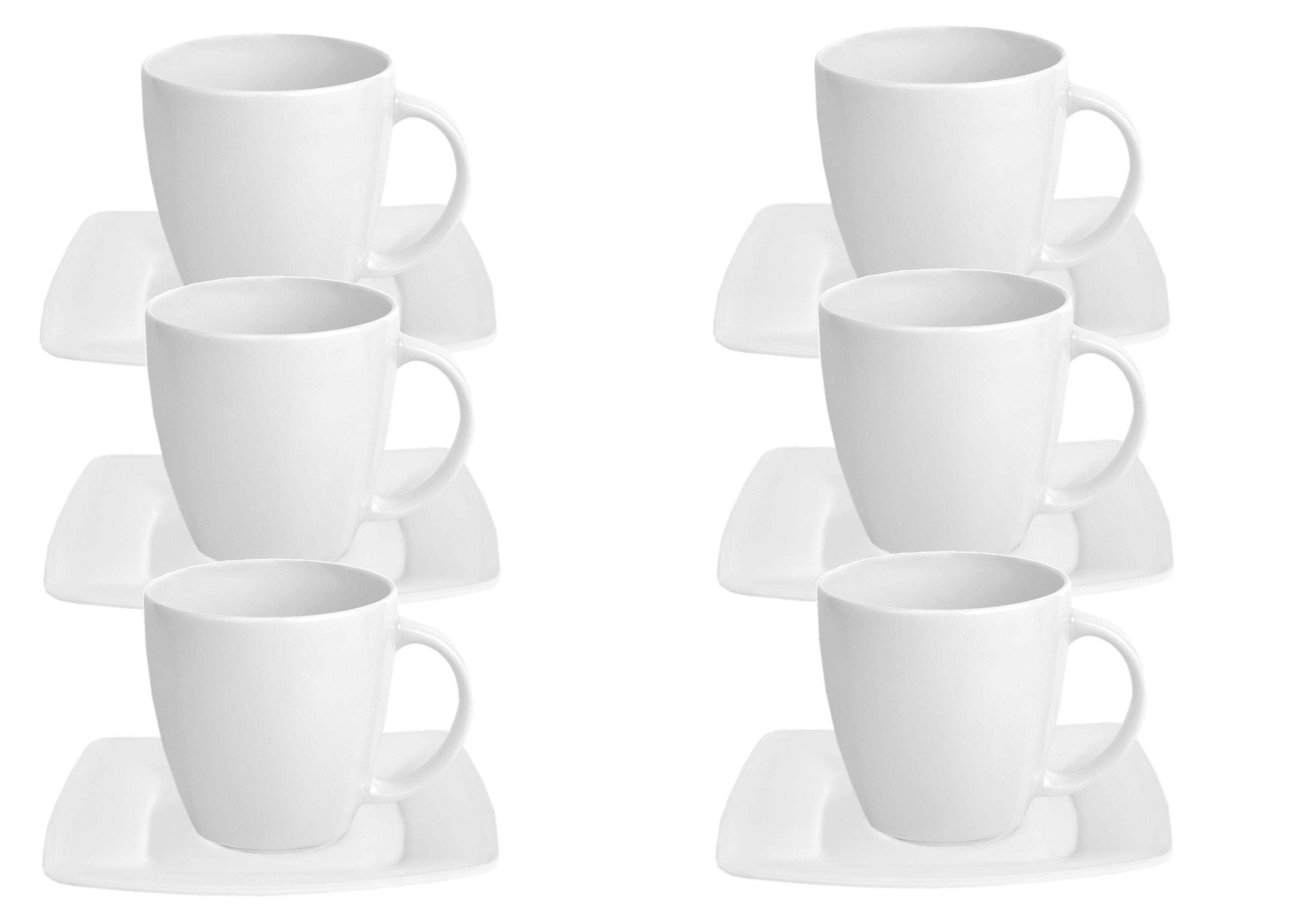 6er set kaffeetasse mit untertasse classico porzellan tassen und becher. Black Bedroom Furniture Sets. Home Design Ideas