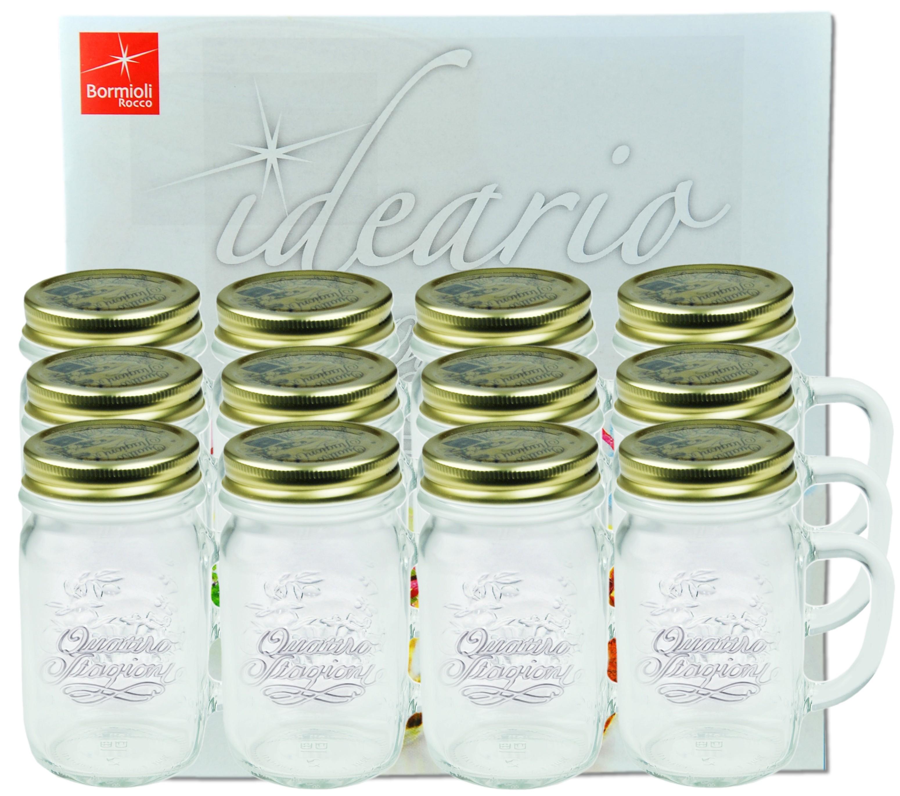 12er set trinkglas mit henkel und deckel original quattro for Deckel trinkglas