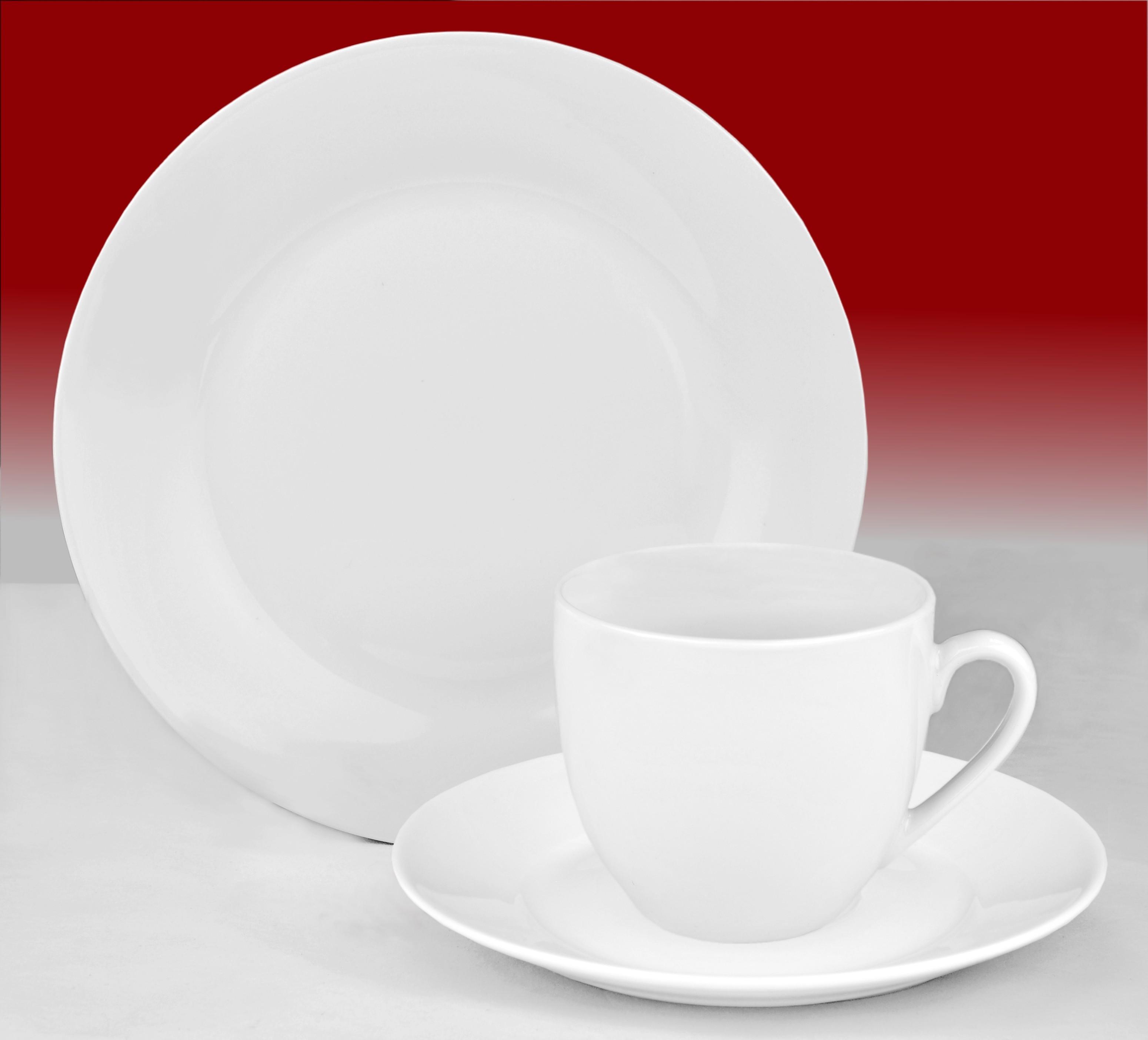 kaffeeservice trend 36tlg f r 12 personen porzellan kaffeeservice ohne dekor. Black Bedroom Furniture Sets. Home Design Ideas
