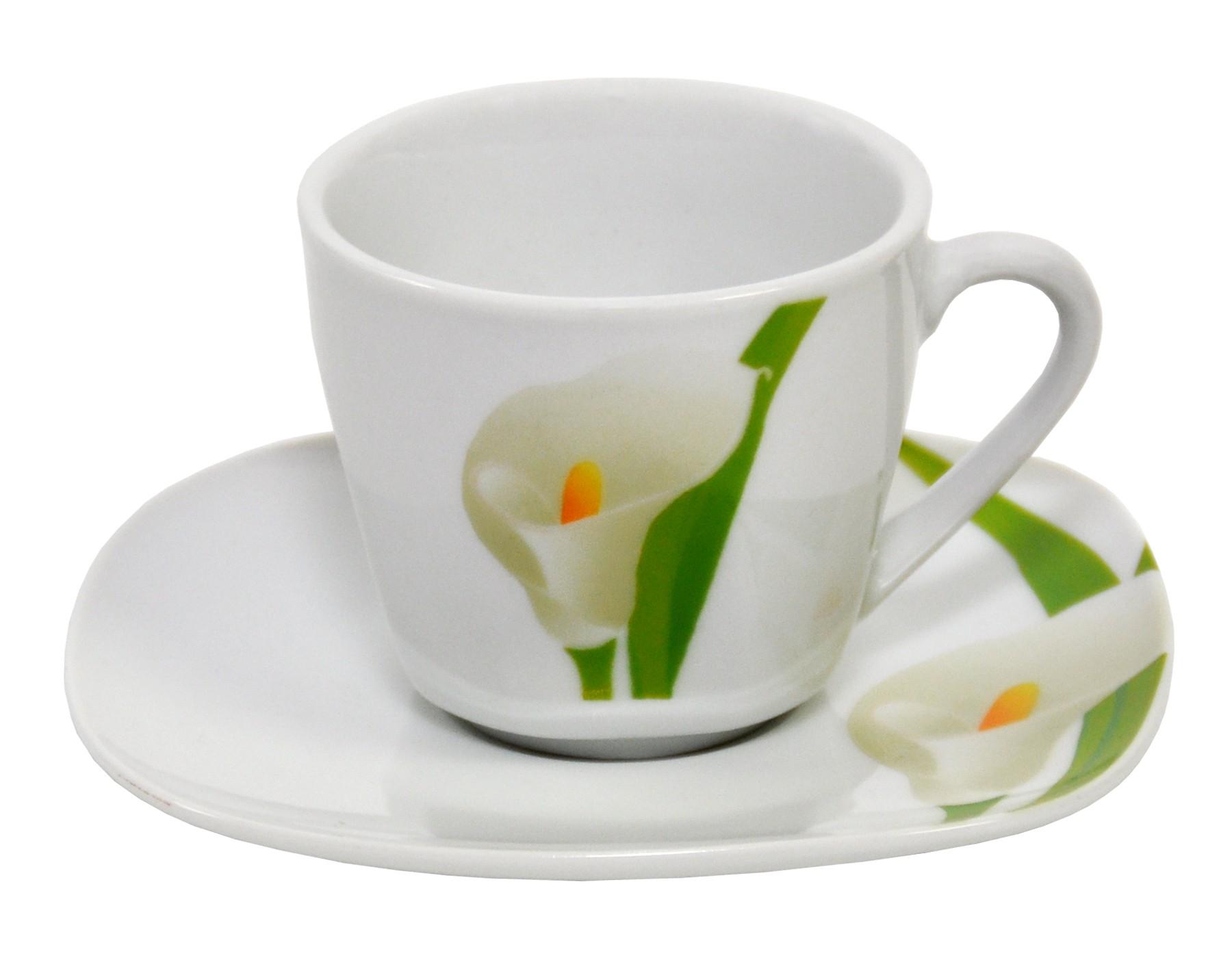 espressotasse mit espressountertasse calla porzellan tassen und becher. Black Bedroom Furniture Sets. Home Design Ideas