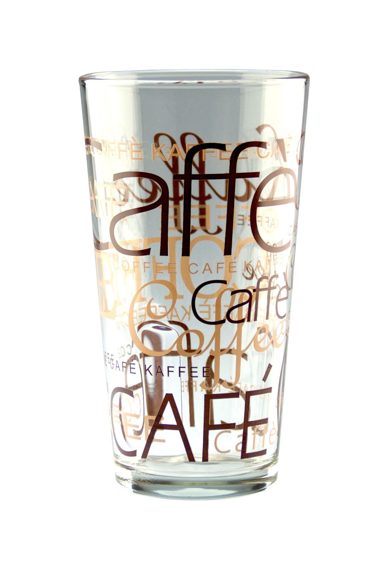 24er set latte macchiato glas 39cl stapelbar coffee dekor. Black Bedroom Furniture Sets. Home Design Ideas