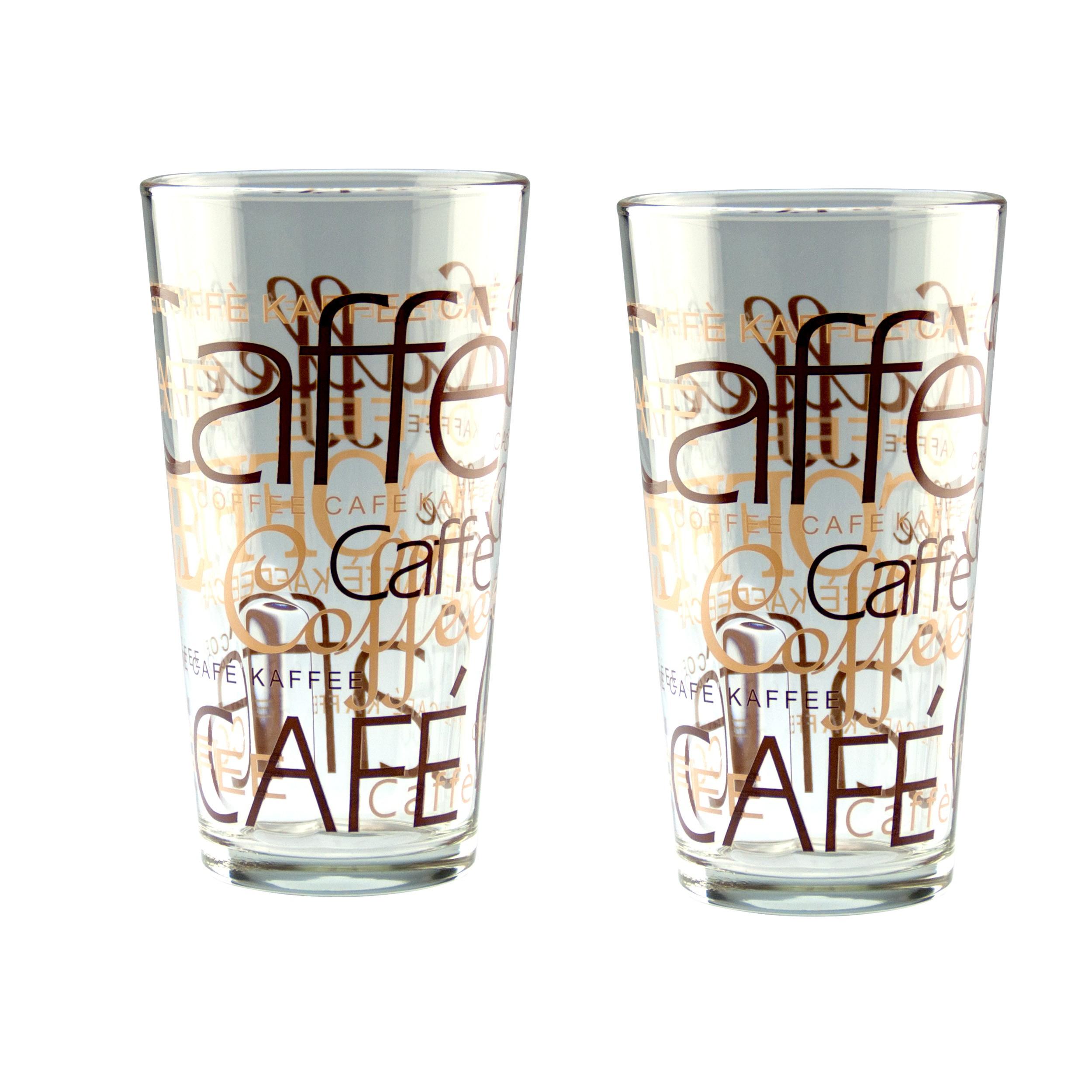 2er set latte macchiato glas 39cl stapelbar coffee dekor glas kaffeegl ser. Black Bedroom Furniture Sets. Home Design Ideas