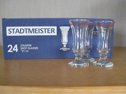 schnapsglas stamper 2cl rotring stadtmeister 24er set glas schnapsgl ser. Black Bedroom Furniture Sets. Home Design Ideas