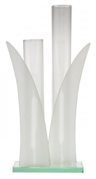 2er set vase blume ca 24cm glas vasen. Black Bedroom Furniture Sets. Home Design Ideas