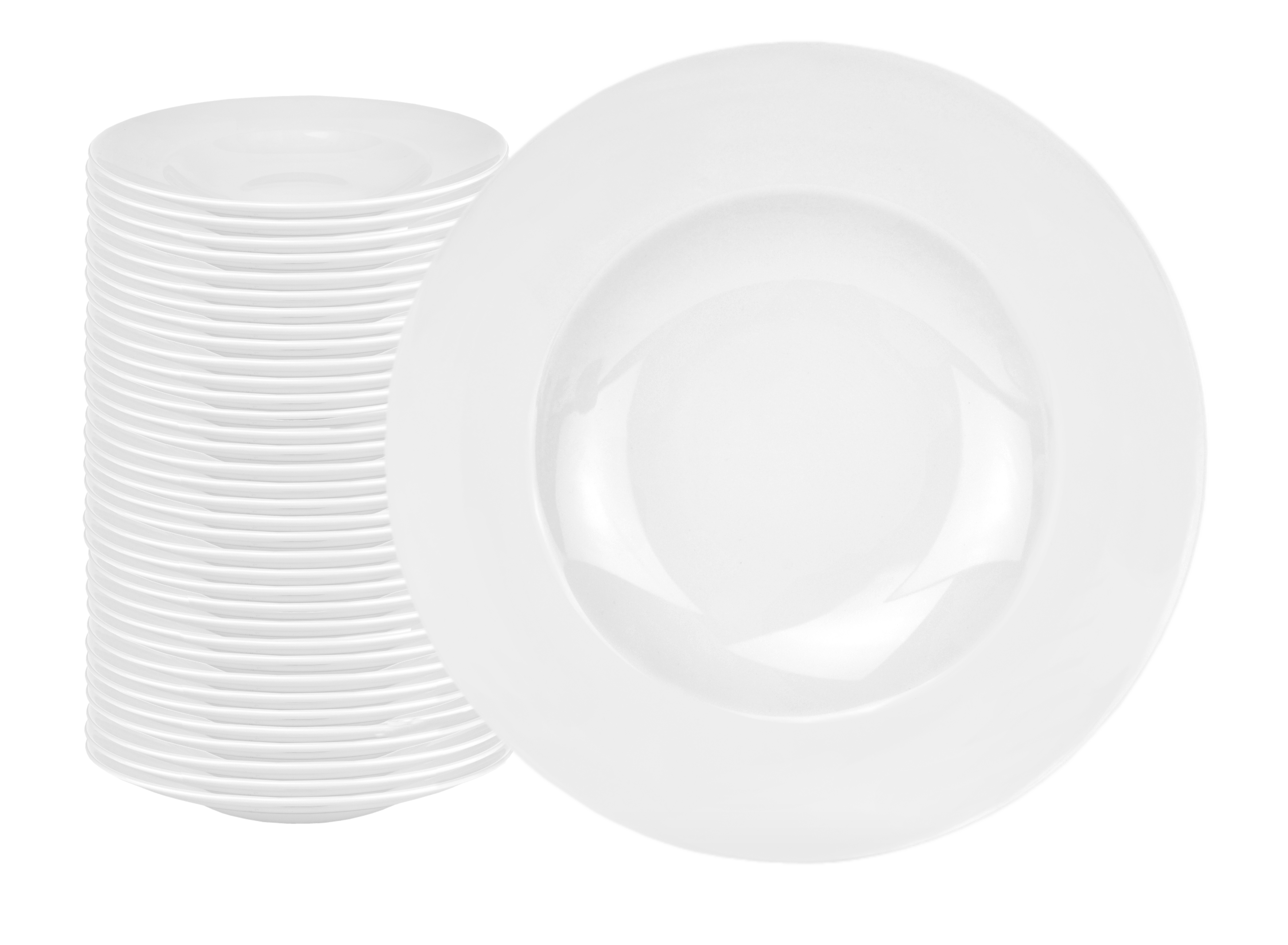 36er set pastateller pasta bowl wellco 30cm wei rund. Black Bedroom Furniture Sets. Home Design Ideas