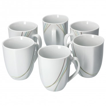 6er Set Kaffeebecher Aliha 33cl – Bild 1