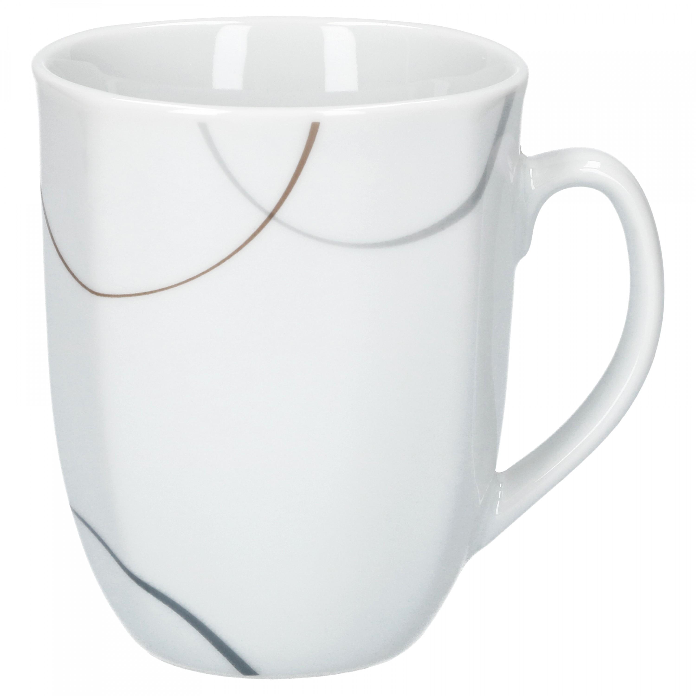 6er set kaffeebecher salerno 33cl porzellan tassen und becher. Black Bedroom Furniture Sets. Home Design Ideas