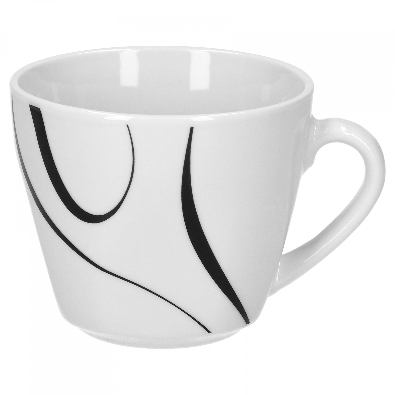 kaffeeservice 36tlg galaxy leicht eckig porzellan f r 12. Black Bedroom Furniture Sets. Home Design Ideas