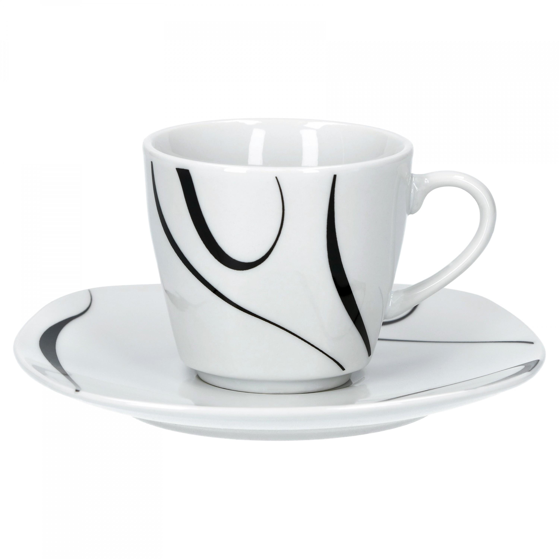 6er set espressotasse mit espressountertasse galaxy porzellan tassen und becher. Black Bedroom Furniture Sets. Home Design Ideas