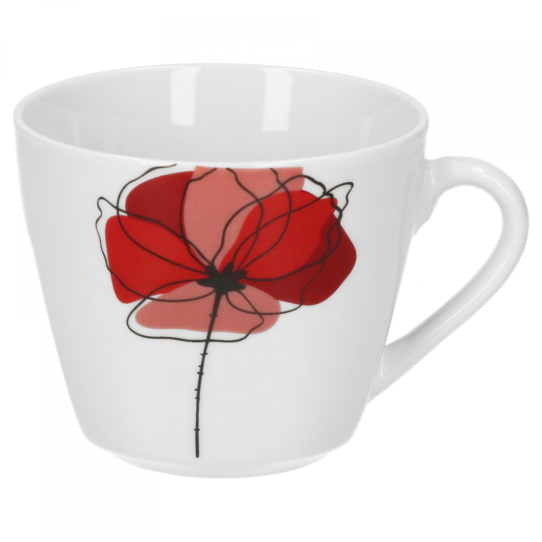 kaffeetasse mit kaffeeuntertasse monika porzellan tassen und becher. Black Bedroom Furniture Sets. Home Design Ideas