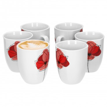 6er Set Kaffeebecher Monika 33cl – Bild 1