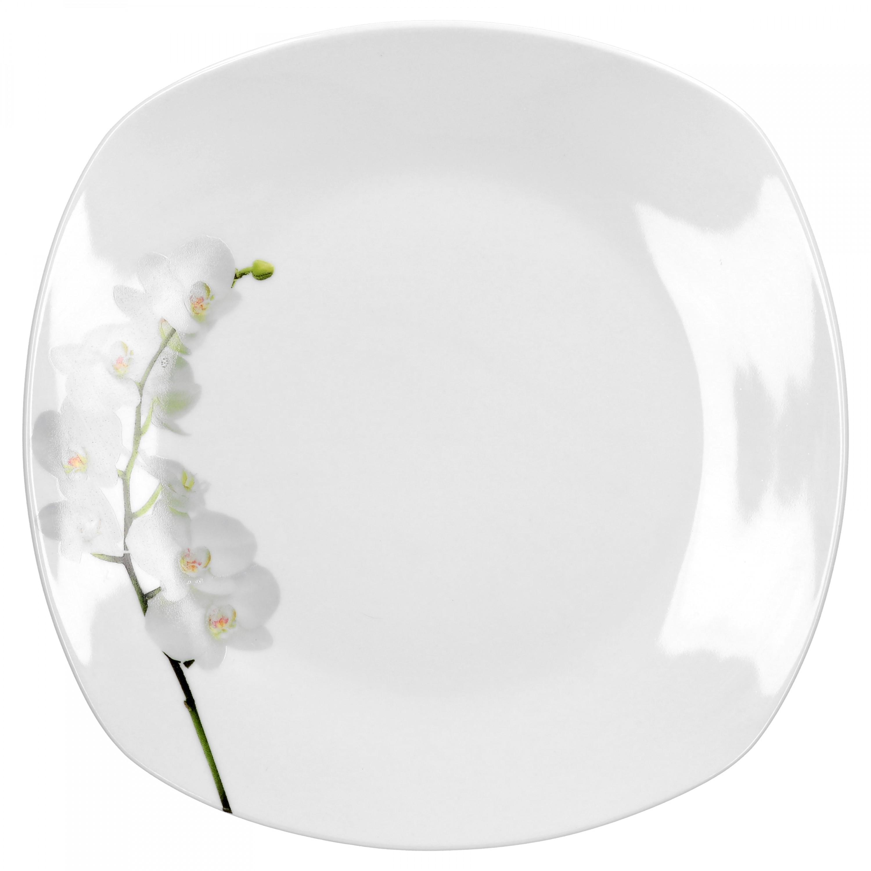 kombiservice 60tlg vanda wei e orchidee leicht eckig porzellan f r 12 personen wei mit. Black Bedroom Furniture Sets. Home Design Ideas