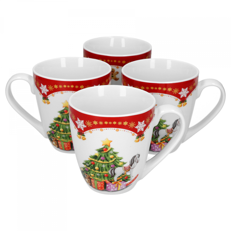 4er set kaffeebecher weihnachtszauber 53cl porzellan tassen und becher. Black Bedroom Furniture Sets. Home Design Ideas