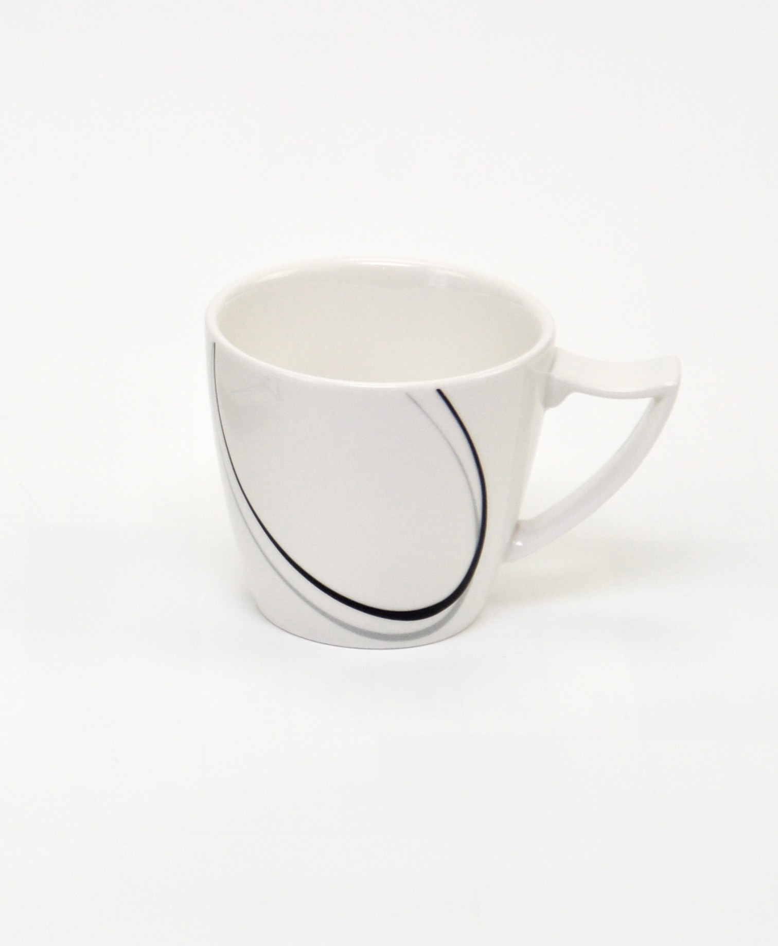 18tlg kaffeeservice scarlett 6 personen porzellan geschirr schwarz wei tassen. Black Bedroom Furniture Sets. Home Design Ideas