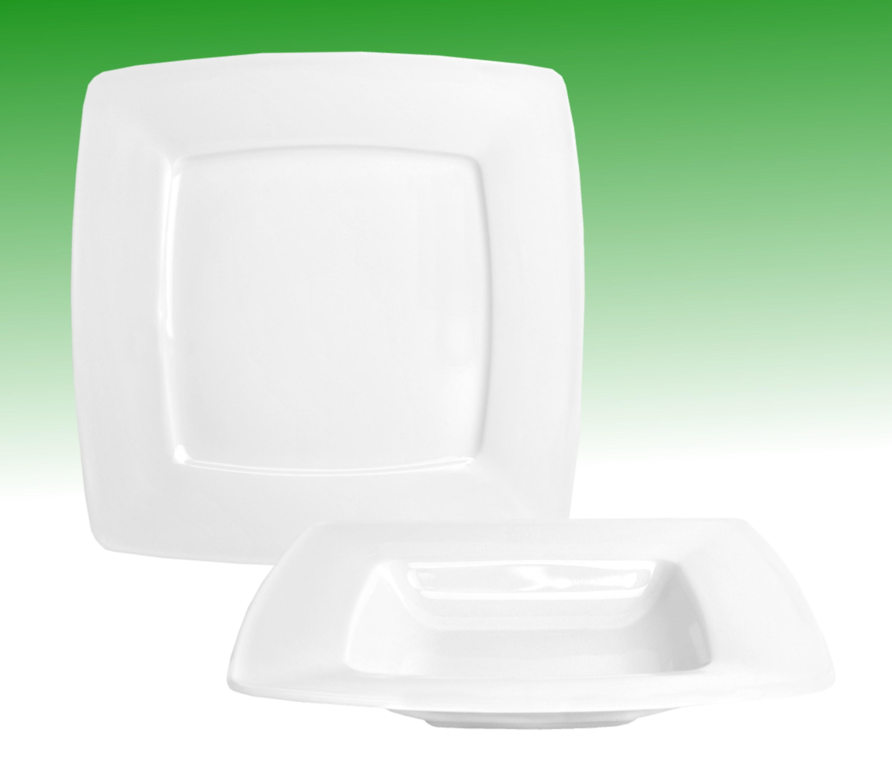 tafelservice classico 24tlg f r 12 personen porzellan tafelservice ohne dekor. Black Bedroom Furniture Sets. Home Design Ideas