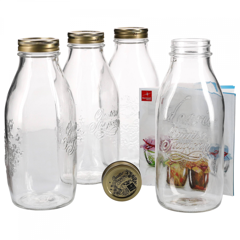 4er set einmachglas original quattro stagioni 1 0l flasche. Black Bedroom Furniture Sets. Home Design Ideas