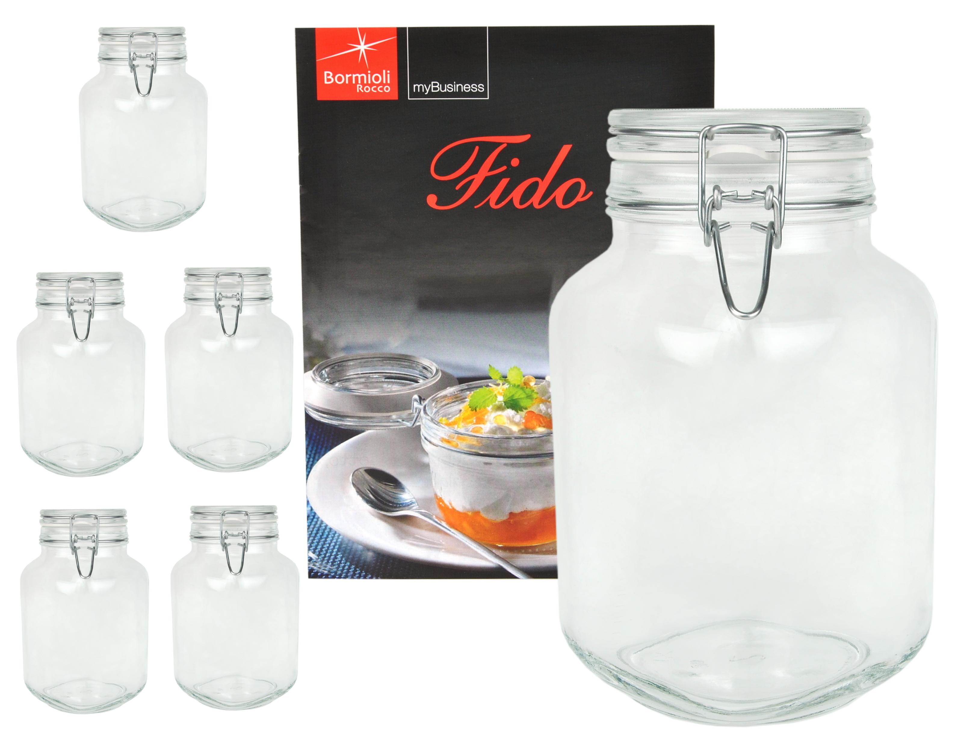 6er set einmachglas eimachgl ser fido 3l 3000ml vorratsglas rezeptheft ebay. Black Bedroom Furniture Sets. Home Design Ideas