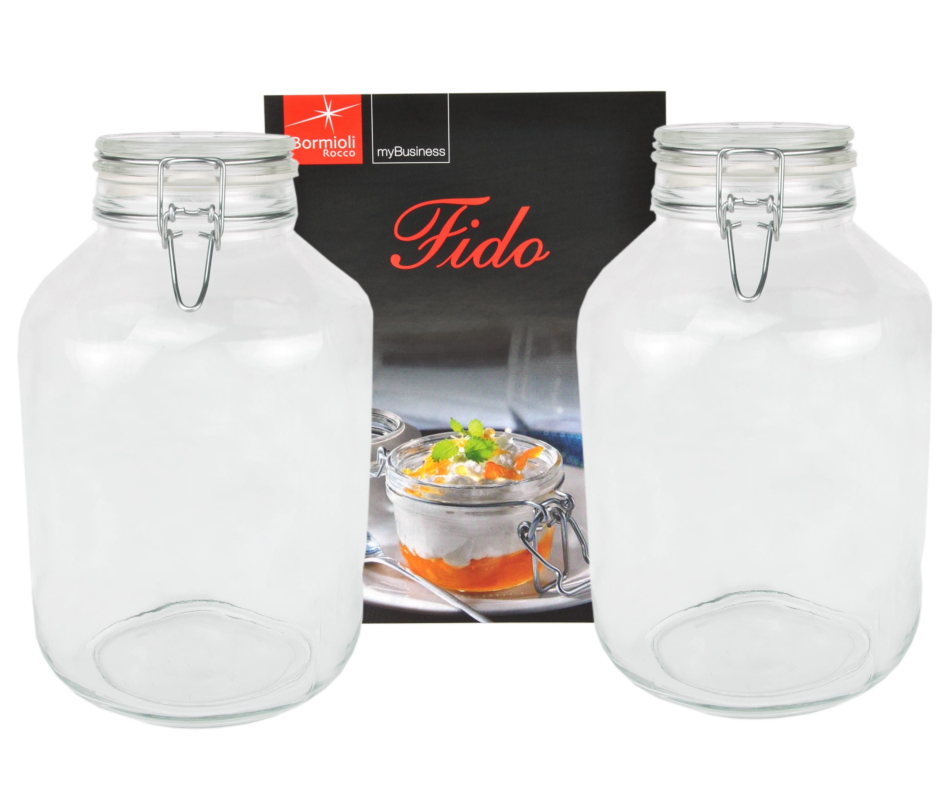 2er set einmachglas b gelverschluss original fido 4 0l. Black Bedroom Furniture Sets. Home Design Ideas