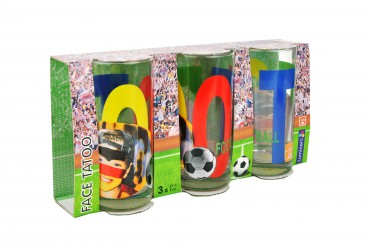 3er Set Wasserglas Face Tatoo – Bild 5