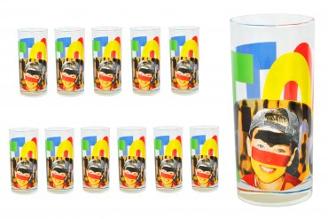 12er Set Wasserglas Face Tatoo – Bild 1