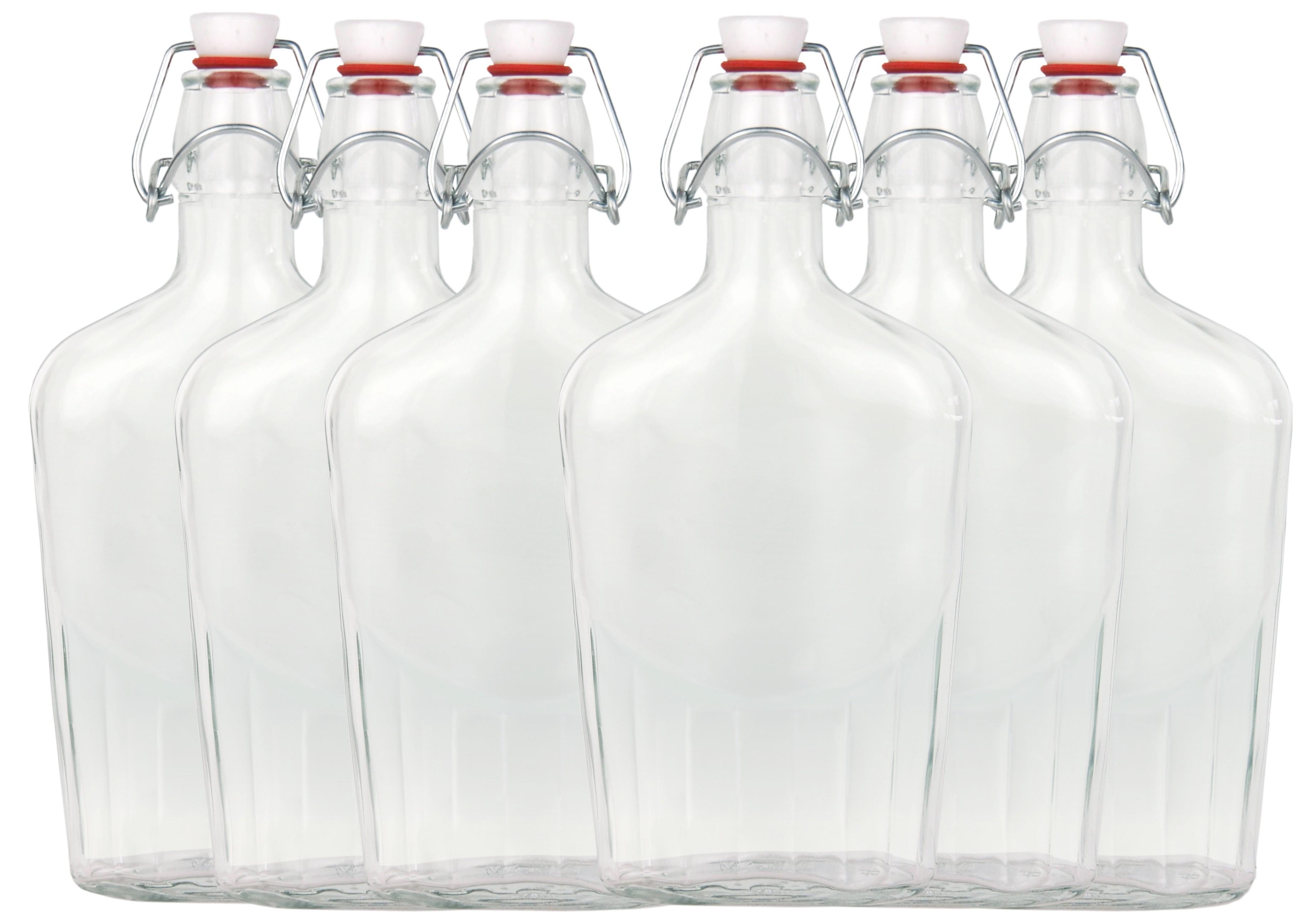 6er set glasflasche fiaschetta mit b gelverschluss 0 25 liter glas flaschen. Black Bedroom Furniture Sets. Home Design Ideas