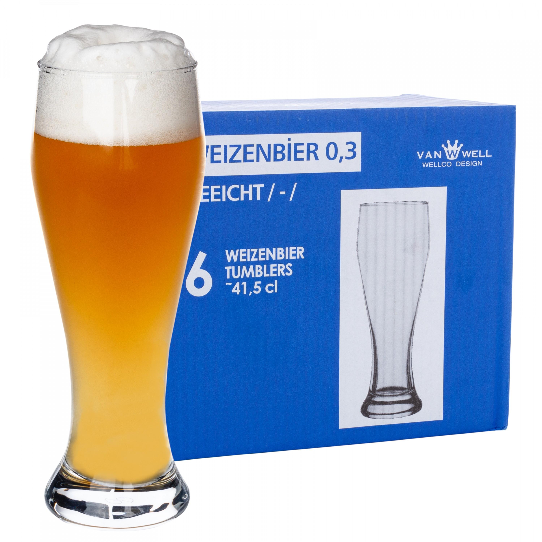 Pasabahce 42550 Bier Cocktail Glasbecher Penguen 390 ml 6er Set