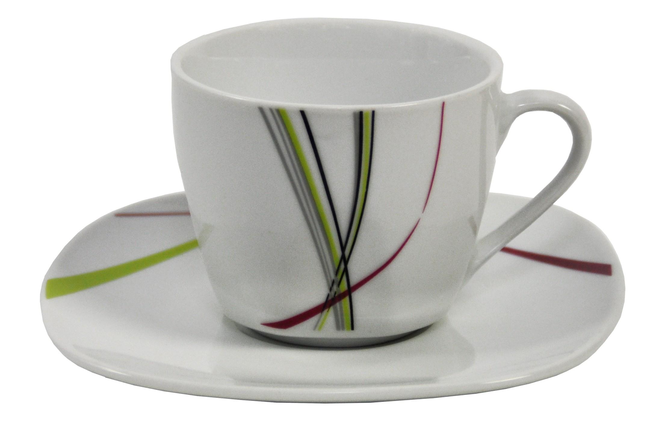 kaffeetasse 20cl mit untertasse 14 5cm fashion porzellan tassen und becher. Black Bedroom Furniture Sets. Home Design Ideas