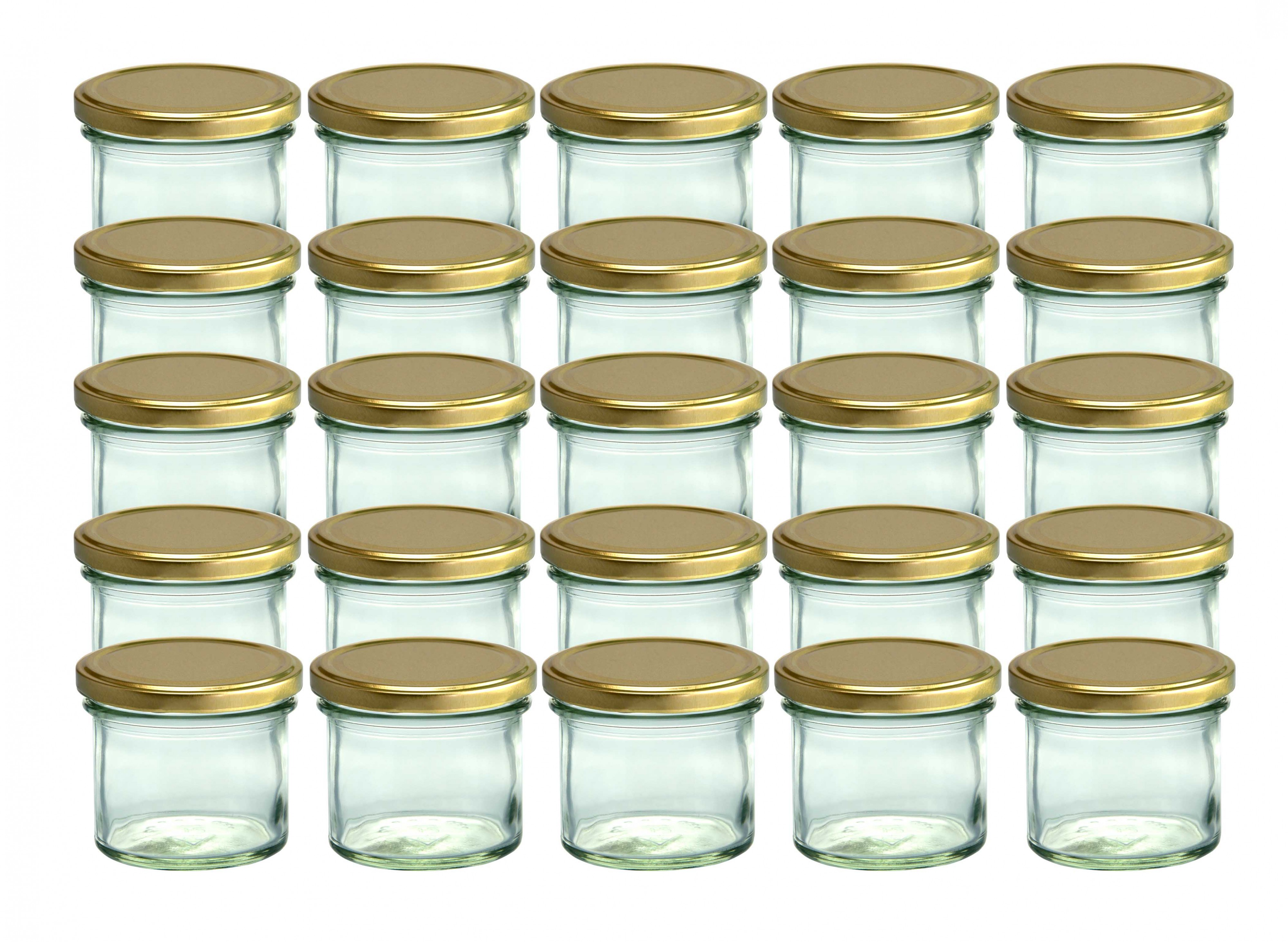 25 sturzgl ser 125 ml marmeladengl ser einmachgl ser. Black Bedroom Furniture Sets. Home Design Ideas