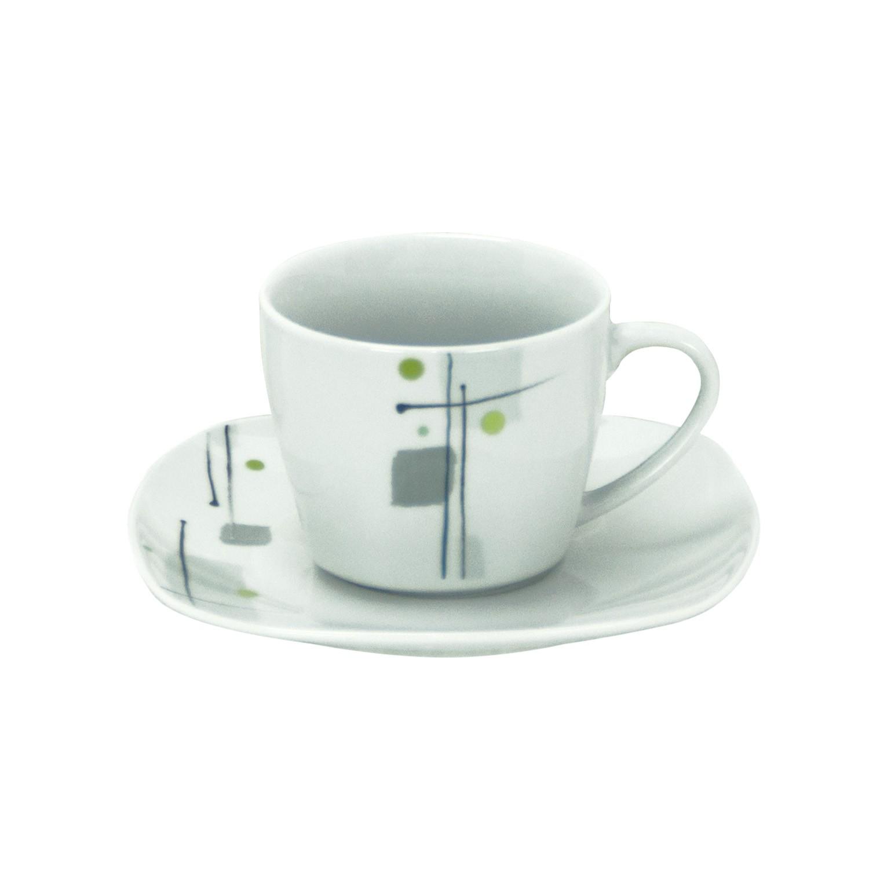 kaffeetasse 18cl mit kaffeeuntertasse 14 5cm lido porzellan tassen und becher. Black Bedroom Furniture Sets. Home Design Ideas