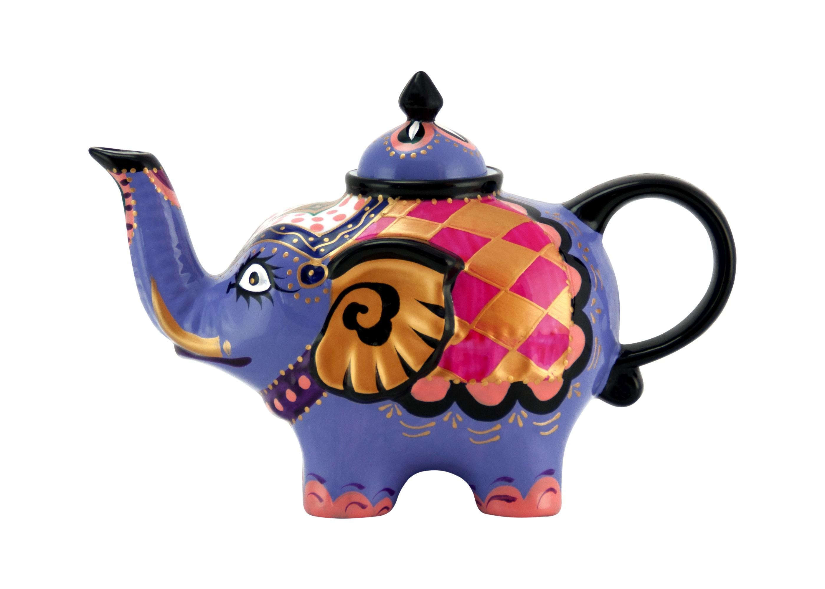 elefant kanne design blau teekanne aus porzellan mit. Black Bedroom Furniture Sets. Home Design Ideas