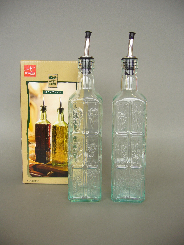 2er set country home essig und l flaschen 50cl porzellan. Black Bedroom Furniture Sets. Home Design Ideas
