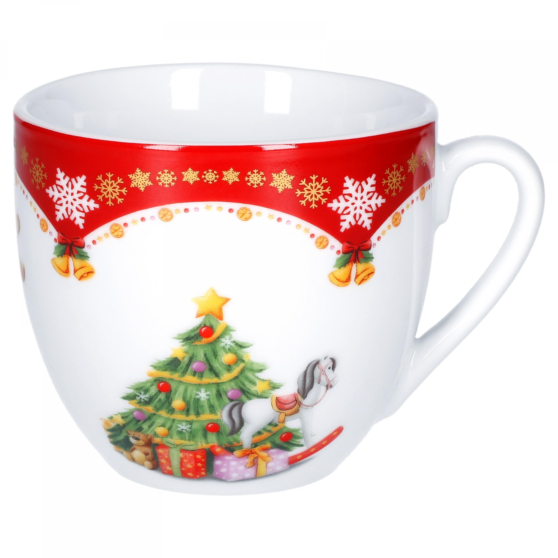 kaffeeservice weihnachtszauber 36tlg f r 12 personen wei mit weihnachtsdekor porzellan. Black Bedroom Furniture Sets. Home Design Ideas
