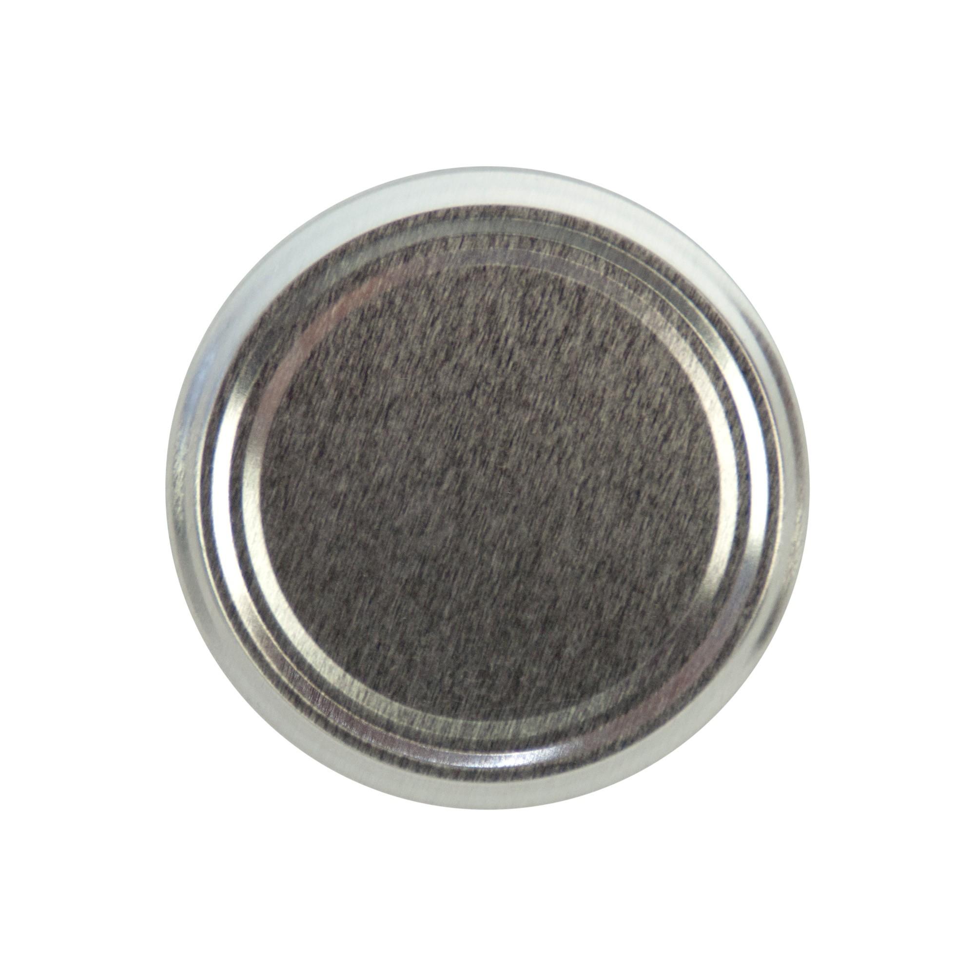 20er Set Deckel To 82 silber passend für 230ml / 350ml