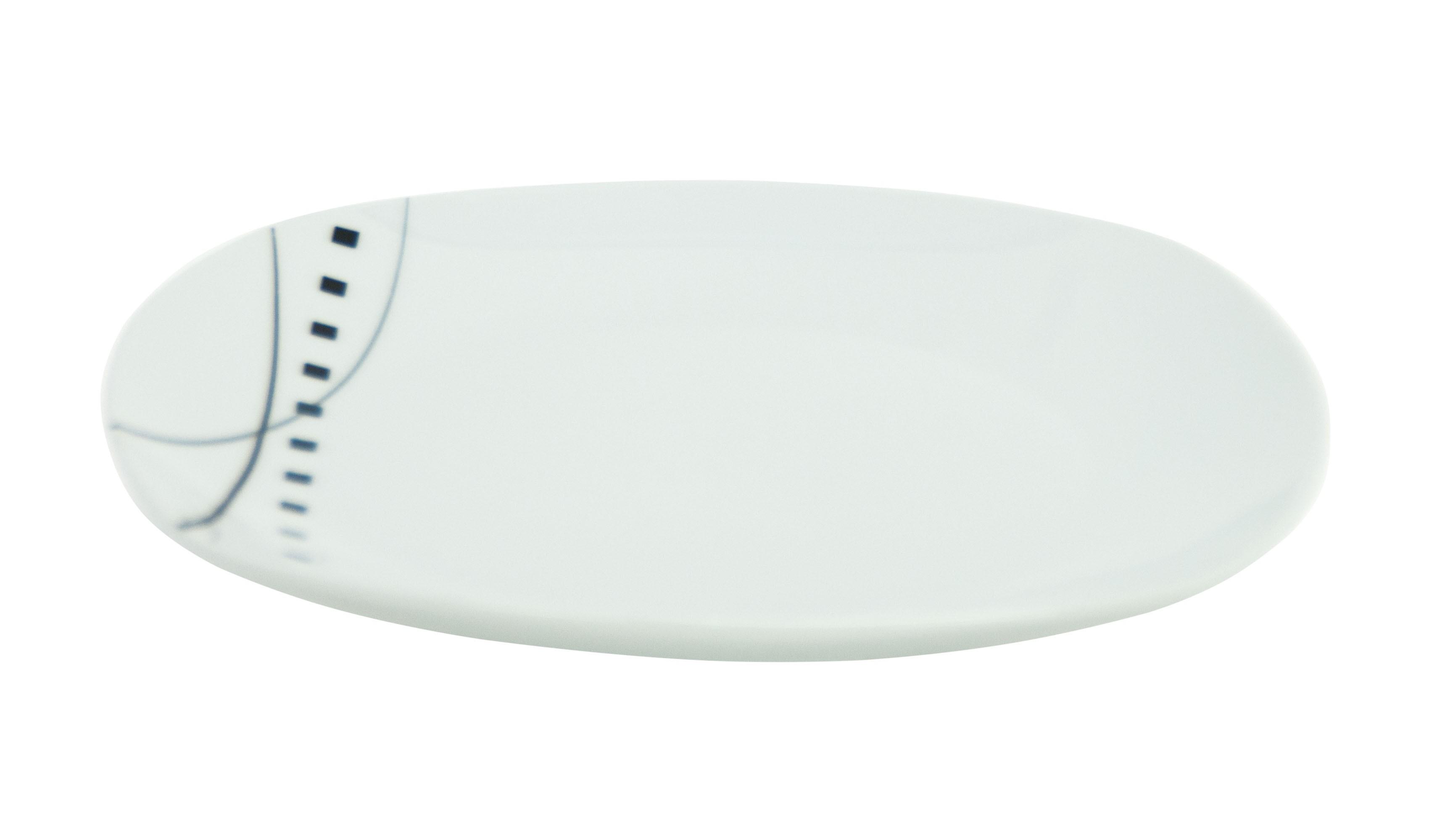 tafelservice iowa 30tlg wei mit farbigem dekor f r 6. Black Bedroom Furniture Sets. Home Design Ideas