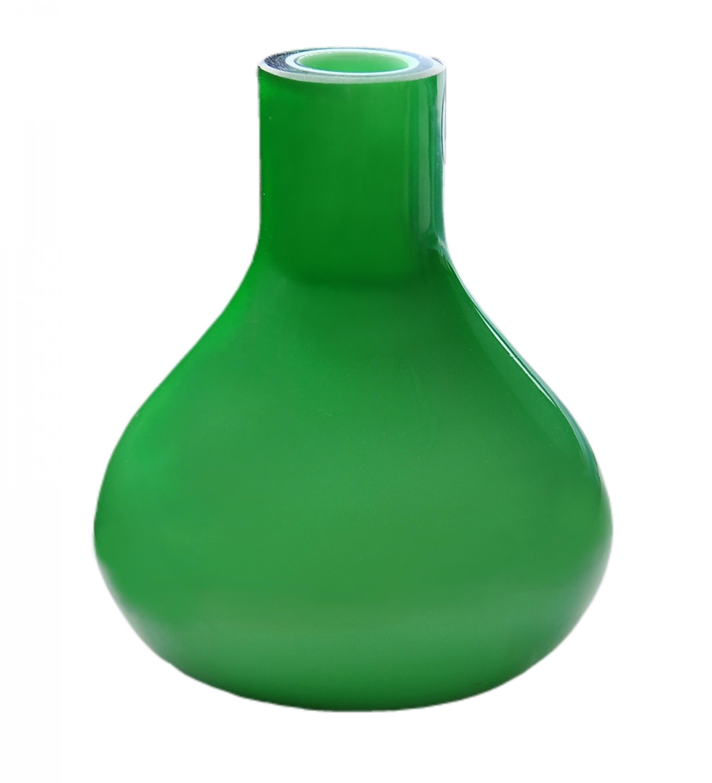 design vase glas gr n mundgeblasen blumenvase tischvase. Black Bedroom Furniture Sets. Home Design Ideas