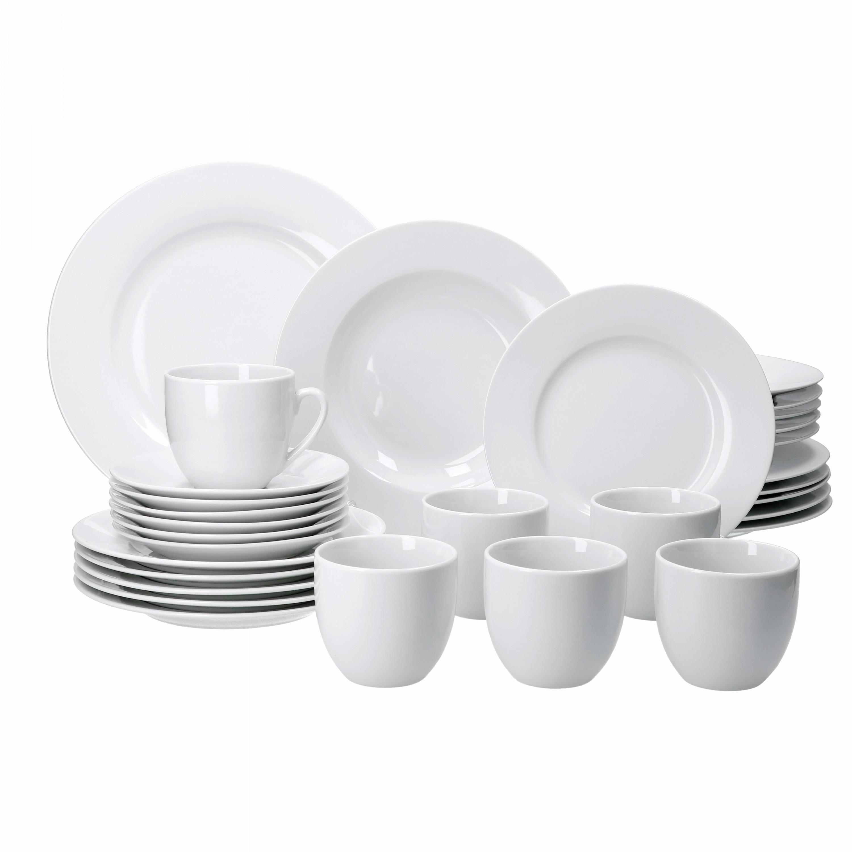 kombiservice trend 30tlg f r 6 personen 6 speiseteller 27cm 6 suppenteller 6 dessertteller. Black Bedroom Furniture Sets. Home Design Ideas