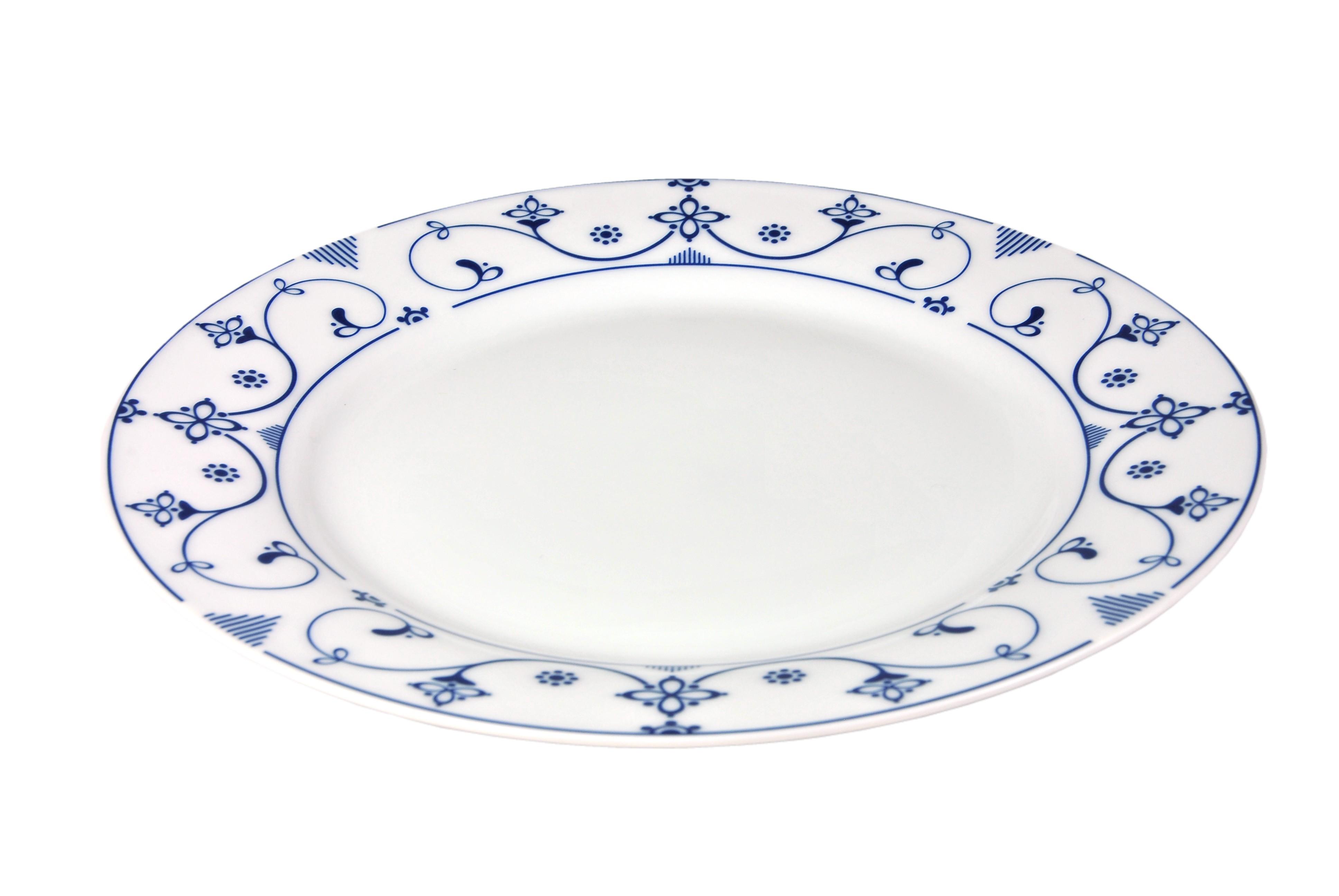 tafelservice indisch blau 24 tlg wei mit farbigem dekor f r 12 personen porzellan tafelservice. Black Bedroom Furniture Sets. Home Design Ideas