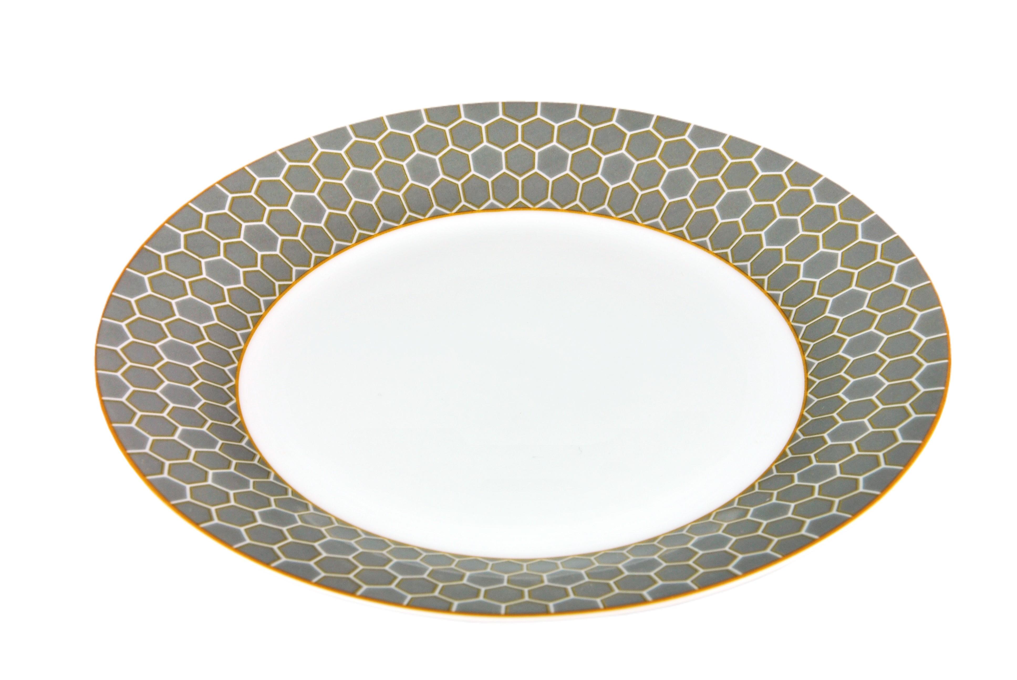 tafelservice honey 12tlg wei mit farbigem dekor f r 6 personen porzellan tafelservice mit dekor. Black Bedroom Furniture Sets. Home Design Ideas