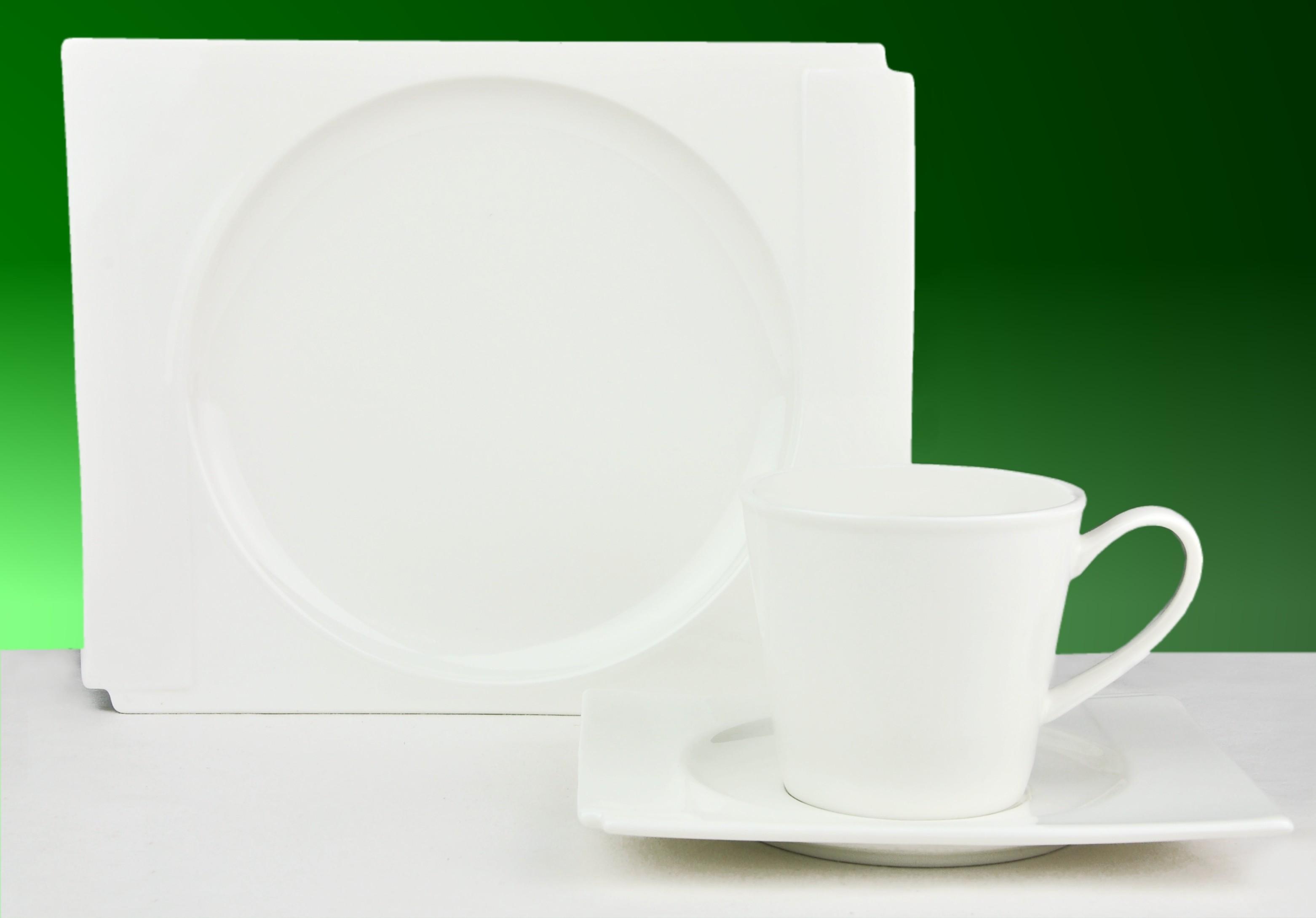 36tlg kaffeeservice estelle 12 personen geschirr porzellan wei rund und eckig 4250857235216 ebay. Black Bedroom Furniture Sets. Home Design Ideas