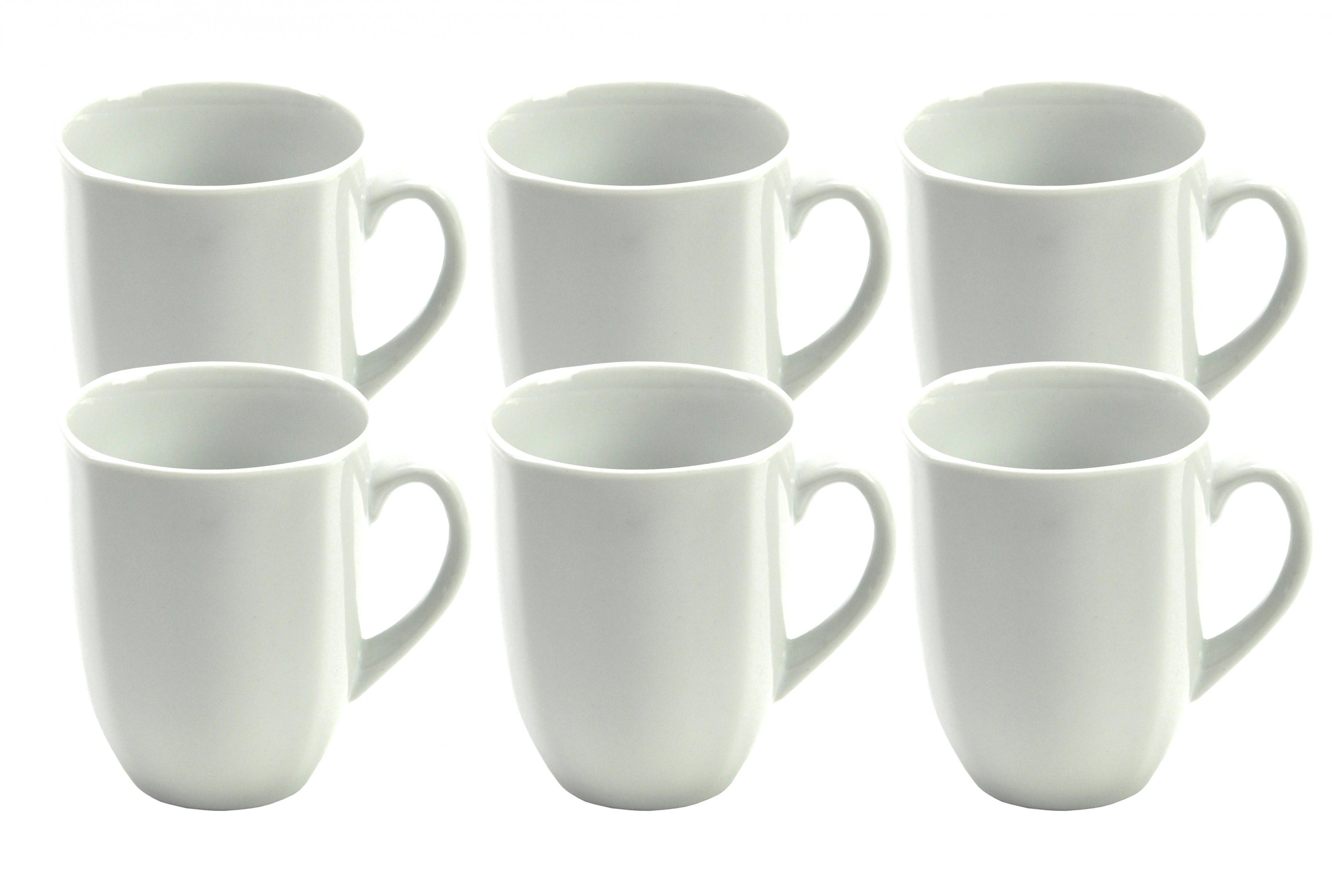 6er set kaffeebecher serie atrium 33cl porzellan tassen und becher. Black Bedroom Furniture Sets. Home Design Ideas