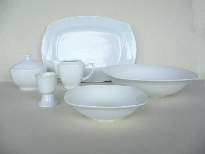 serie premium porzellan tafelservice ohne dekor. Black Bedroom Furniture Sets. Home Design Ideas