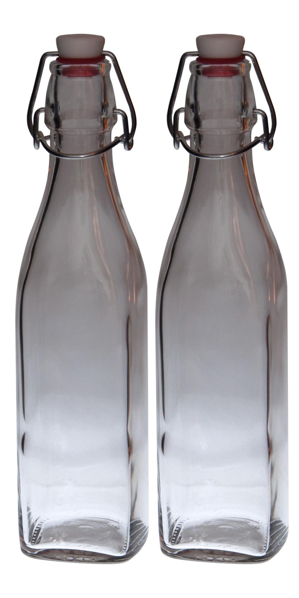 2er set glasflaschen serie swing mit b gelverschluss 0 50 liter glas flaschen. Black Bedroom Furniture Sets. Home Design Ideas