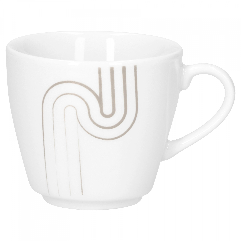 6er set espressotasse mit espressountertasse costa porzellan tassen und becher. Black Bedroom Furniture Sets. Home Design Ideas
