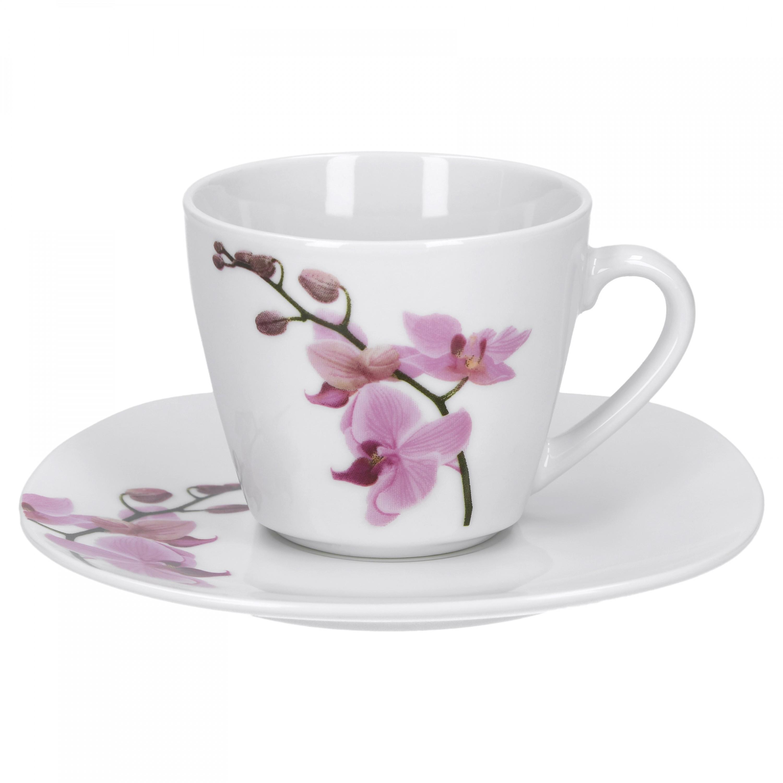 kombiservice 124tlg kyoto orchidee leicht eckig porzellan. Black Bedroom Furniture Sets. Home Design Ideas