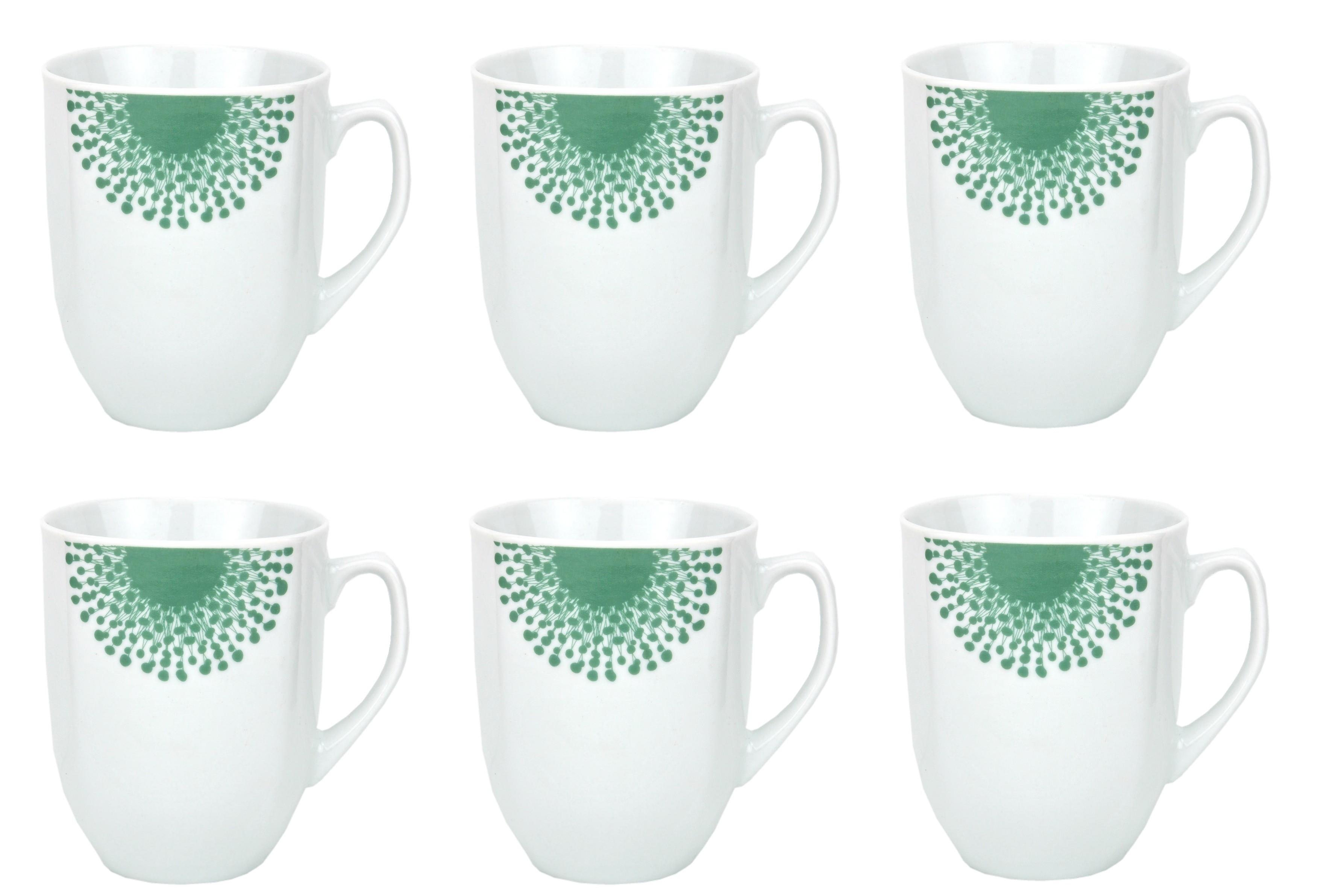 6er set kaffeebecher modena pusteblume 33cl porzellan tassen und becher. Black Bedroom Furniture Sets. Home Design Ideas