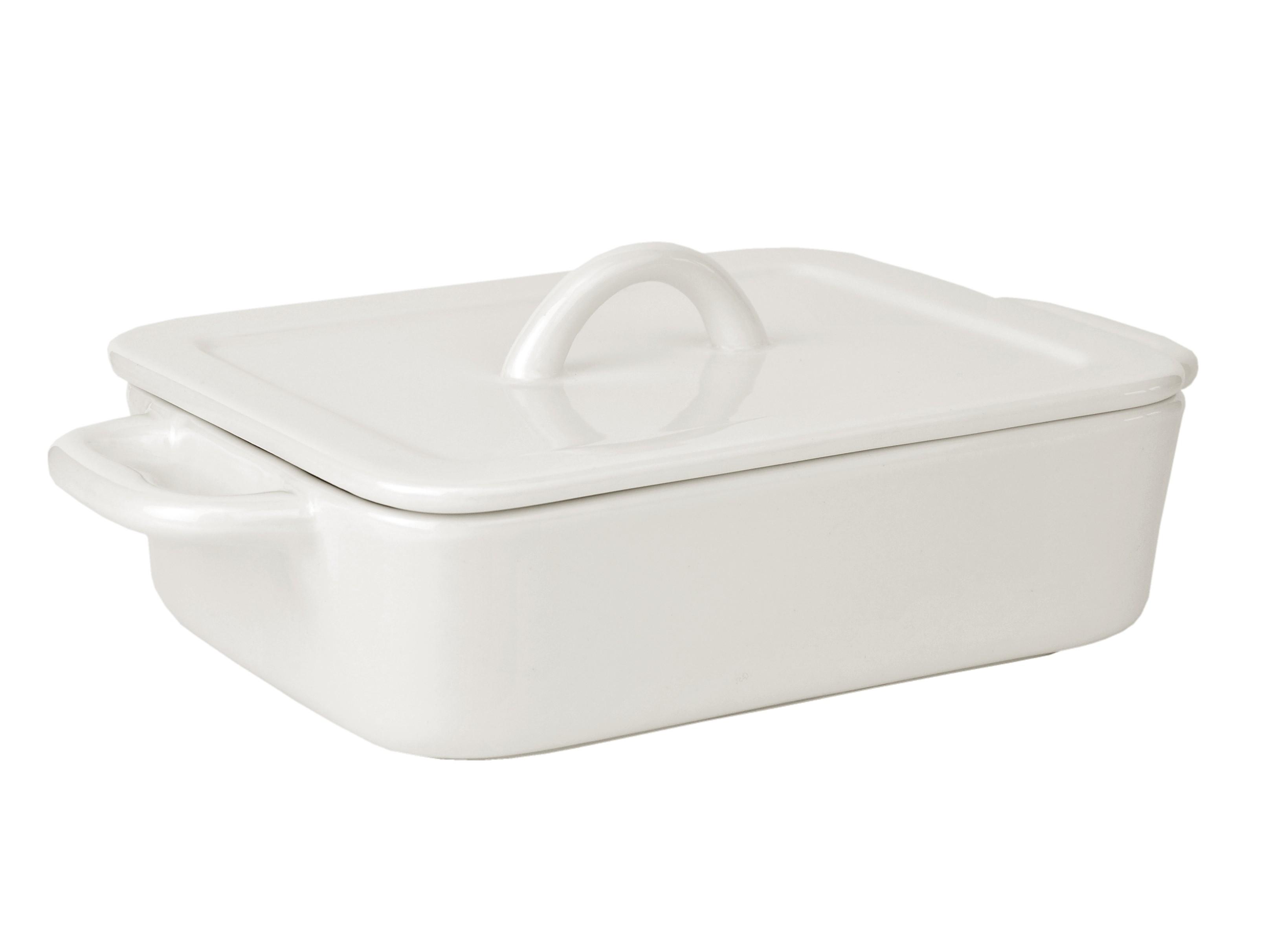 auflaufform mit deckel eckig 22 cm la porcellana bianca p500250122 porzellan erg nzungsteile. Black Bedroom Furniture Sets. Home Design Ideas